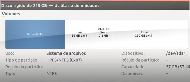 Particione o disco para instalar o Ubuntu