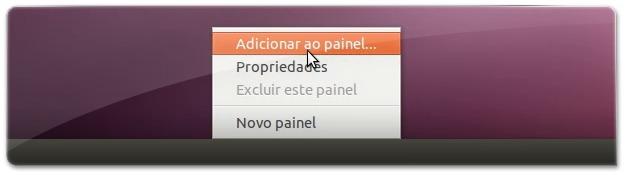 Adicionar ao Painel novos applets