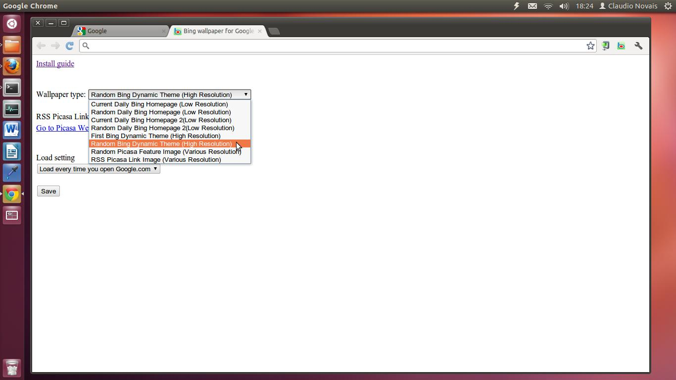 Google theme resolution -  Op Es Da Extens O Google Bing Wallpaper