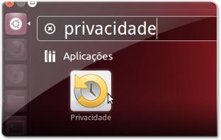 A abrir a aplicação de gestão de privacidade