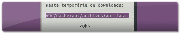 Pasta temporário de downloads