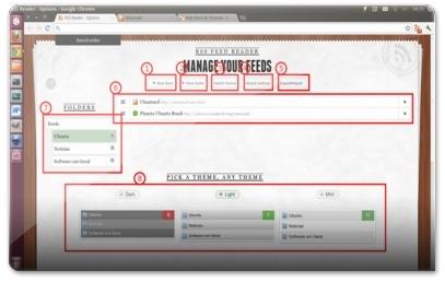 Rss Feed Reader for Google Chrome - Funcionalidades