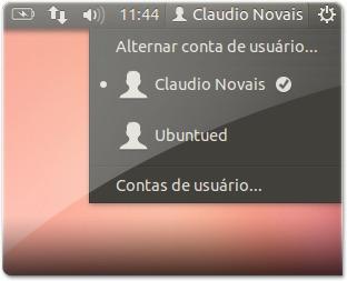 Indicador para trocar de utilizador, sem a sessão convidado