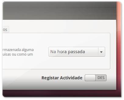 registar privacidade : desligado