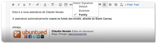 Blank Canvas Gmail Signature