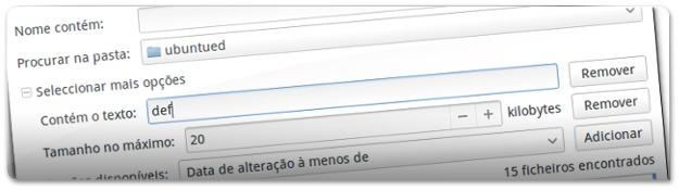 Pesquisa Avançada de ficheiros no Ubuntu