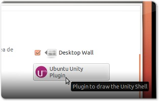 Plugin do Unity no sistema de configuração do Compiz