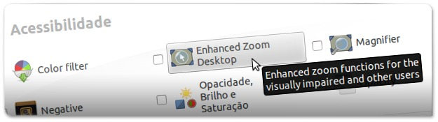 "Entre dentro das opções do Pugin ""Enhanced Zoom Desktop"""