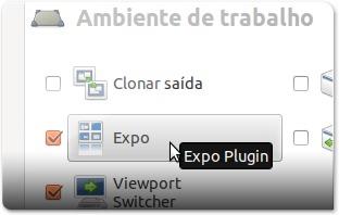 A abrir o plugin EXPO