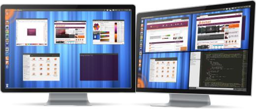 Efeitos de mostrar as janelas e ambientes gráficos com movimentos do Cursor