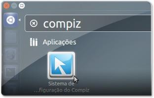 1 - A abrir o Sistema de configuração do Compiz