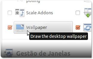 3 - A entrar nas opções do plugin Wallpaper