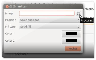 Escolha o ficheiro para ser wallpaper