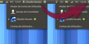 Barra do Ubuntu sem o nome do utilizadorSLIDER