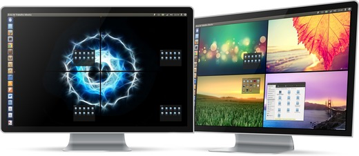Unity com 4 Wallpapers diferentes