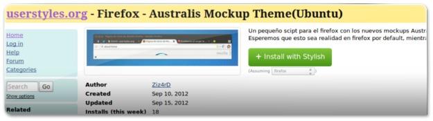 A instalar o visual Australis no Firefox