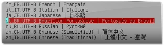 Selecione o idioma