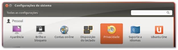 2 - A abrir as opções de privacidade