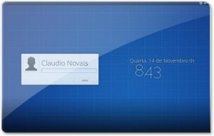 Login do Elementary OS Luna beta 1