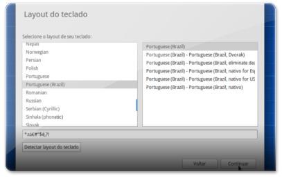A configurar o teclado