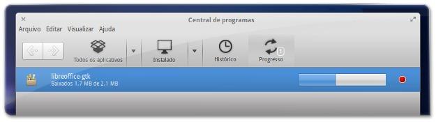 A instalar um pacote que melhora a integração do LIbreOffice no eOS