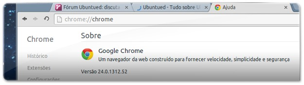 Google Chrome 24 no UbuntuM
