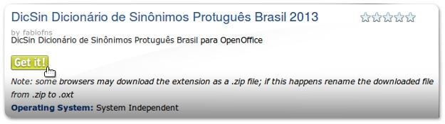 Dicionario de Sinónimos do LibreOffice - 1M