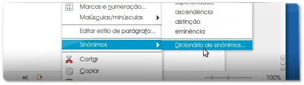 Dicionario de Sinónimos do LibreOffice - Tesauro