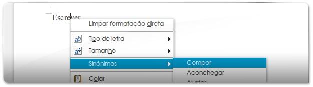 Dicionario de Sinónimos portugueses no LibreOffice