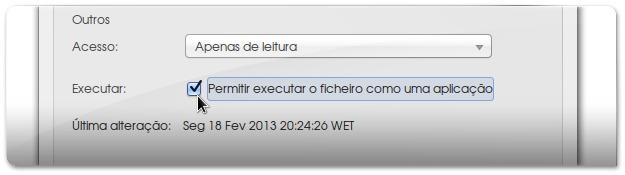 Mudando as permissões de um ficheiro no ubuntu
