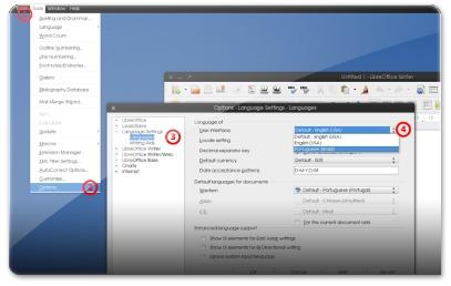 Como trocar o idioma do LibreOffice