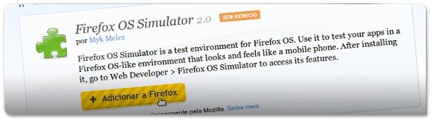 Instalando o FirefoxOS Simulator
