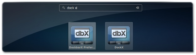 5 - A abrir a DockBarX