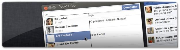 A adicionar conversas no Facebook Messenger