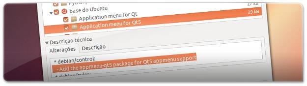 Atualizacao do Ubuntu 13.04 com o AppMenu para QT