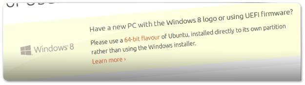 O Ubuntu já não recomenda o Wubi no windows 8