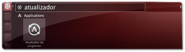 A abrir o Atualizador de Programas do Ubuntu