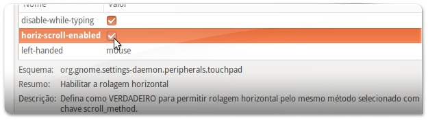 A ativar o Scroll horizontal no touchpad no Ubuntu 13.04