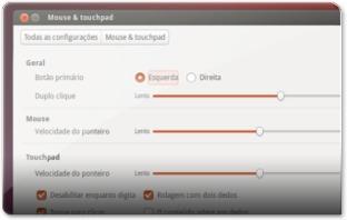 Configurações do Touchpad no Ubuntu 13.04