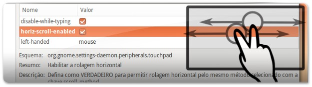 Scroll horizontal no Ubuntu 13.04