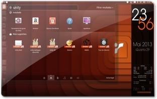 Unity com desfocagem no Ubuntu 13.04