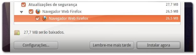 Atualizar Ubuntu para instalar o Firefox 22
