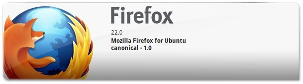 Firefox 22 no ubuntu 13.04