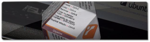 Dodecaedro rômbico de atalhos Inkscape
