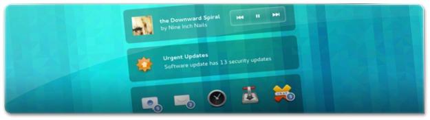 Nova tela de bloqueio do Gnome 3.10