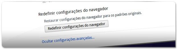 É possível fazer RESET ao Google Chrome 29