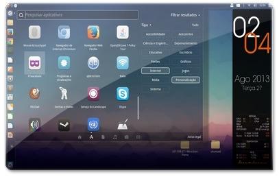 Aplicações com os ícones MOCA para o Ubuntu