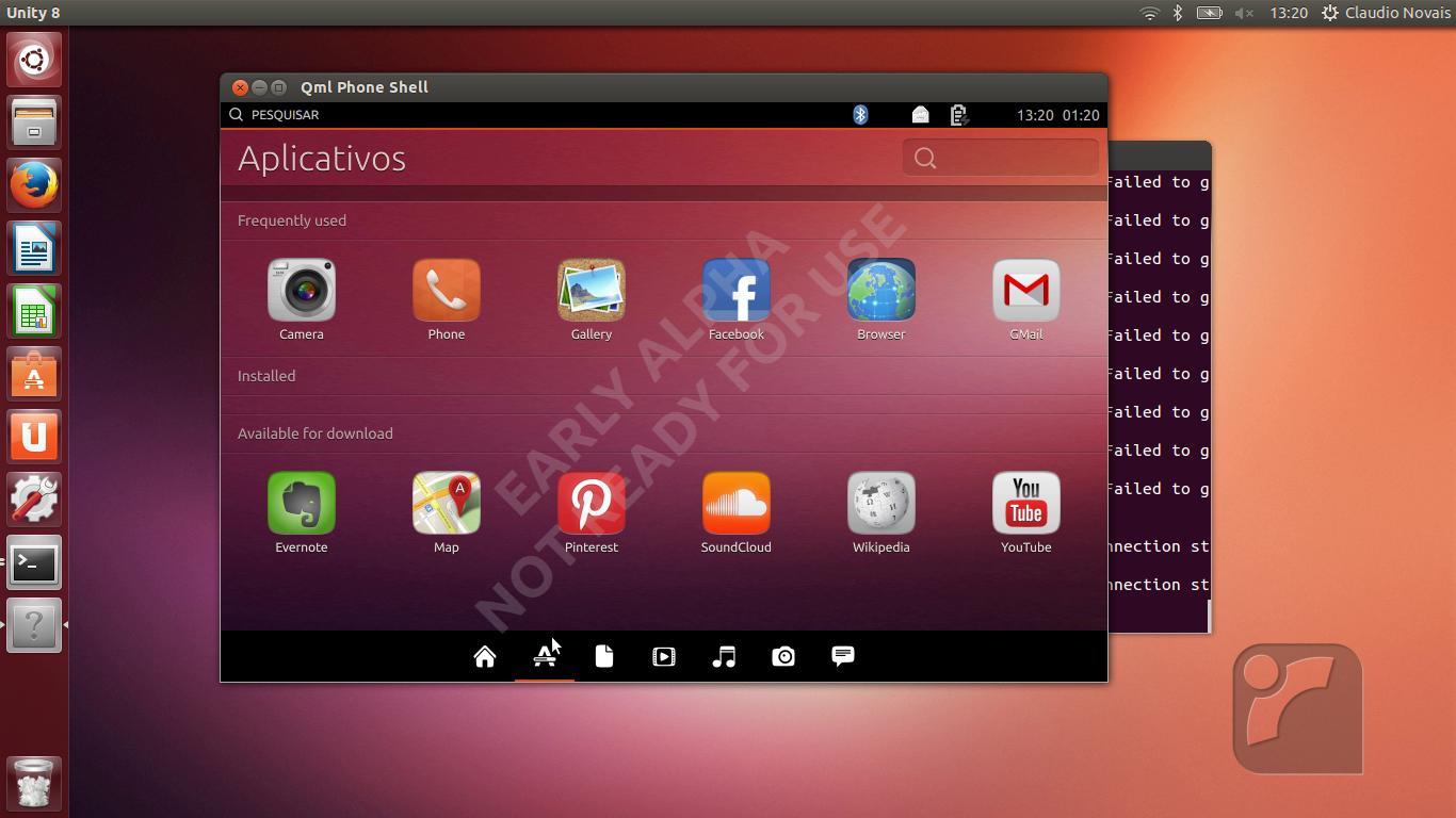 Ubuntu 13.10 Desktop Unity 8 disponíve...