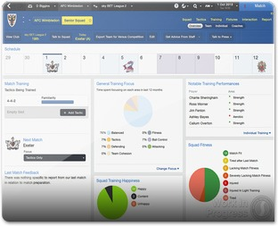 Football manager 2014 interface