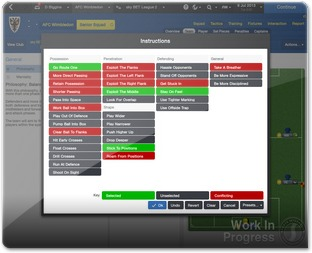Interface do Footeball manager